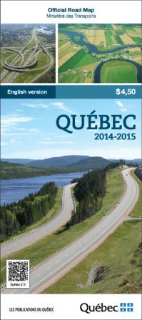 2014 Edition of the Qu�bec Official Road Map-Click to go to the Publications du Qu�bec website.